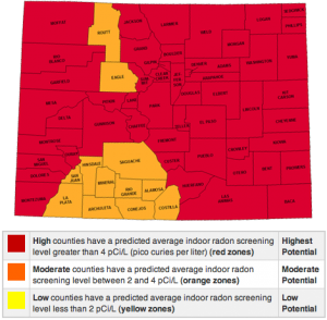 Colorado Radon Map3 Rds Environmental