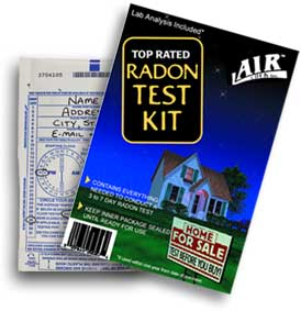 radon text kit RDS Environmental Colorado