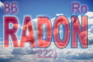 The danger of radon gas - concept image