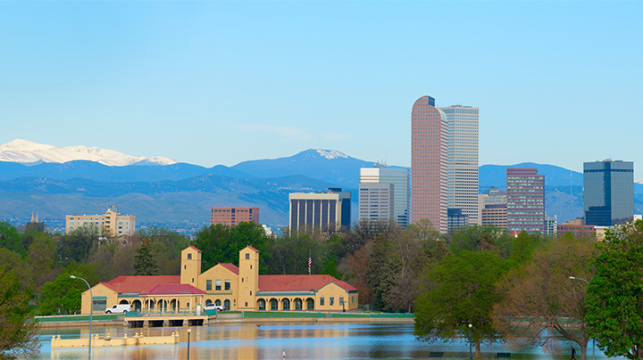 downtown denver with Wash park in foreground RDS Environmental Colorado
